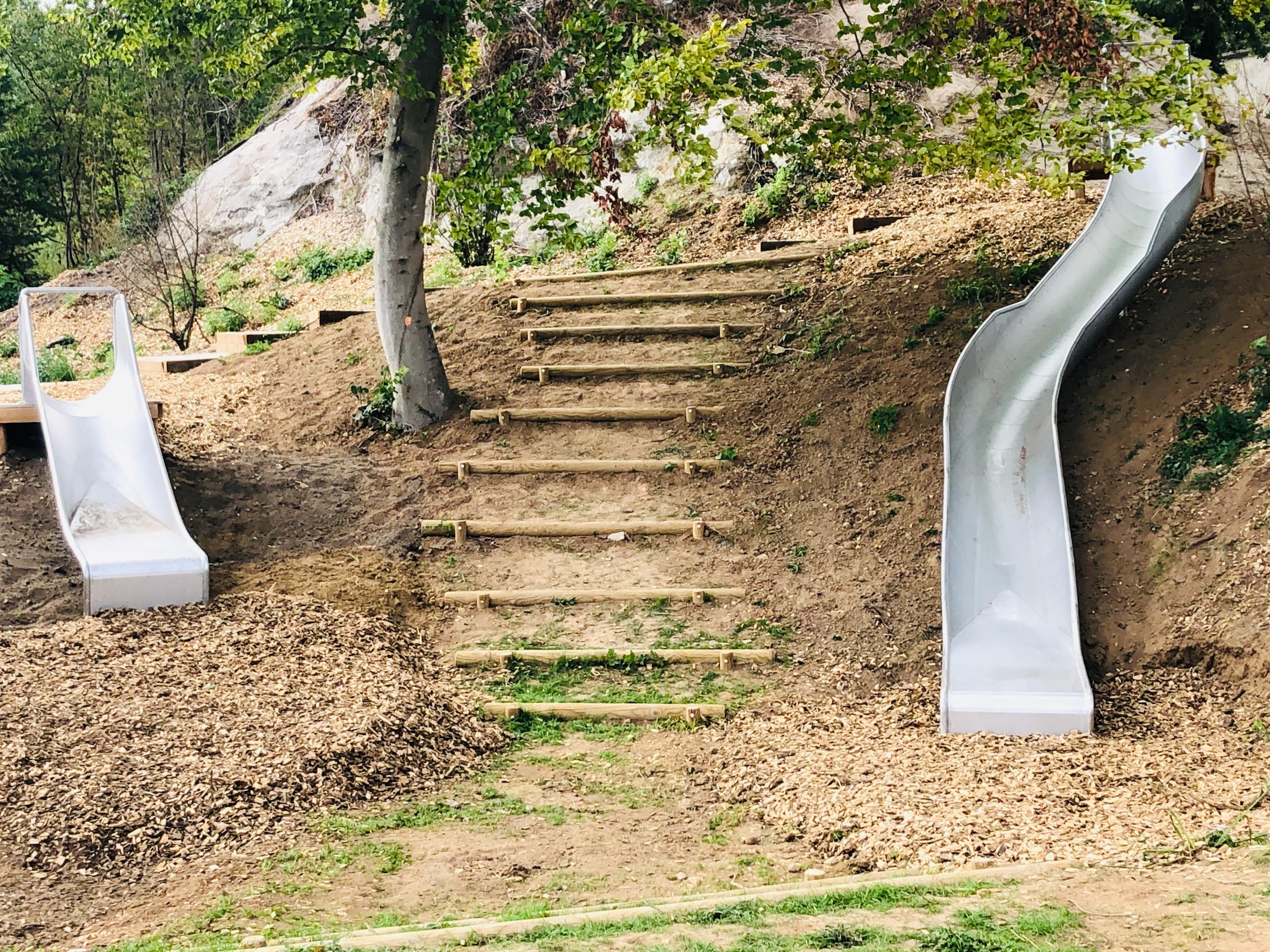 toboggan sur talus blenod les pont à mousson département 54 lorraine